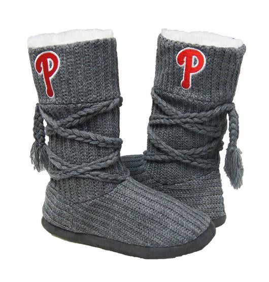 Philadelphia Phillies Knit Boots Gray