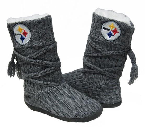 Pittsburgh Steelers Knit Boots Gray