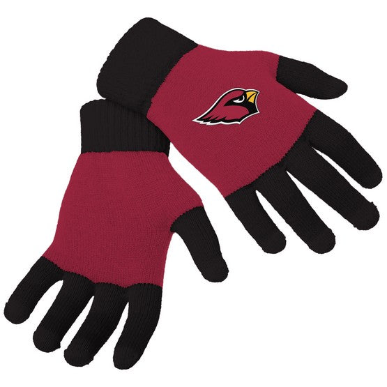 Arizona Cardinals Knit Colorblock Gloves