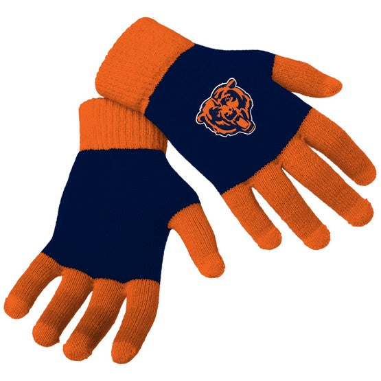 Chicago Bears Knit Colorblock Gloves