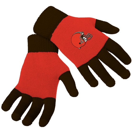 Cleveland Browns Knit Colorblock Gloves