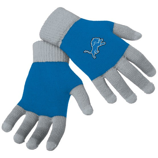 Detroit Lions Knit Colorblock Gloves