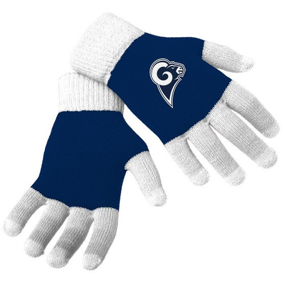 Los Angeles Rams Knit Colorblock Gloves