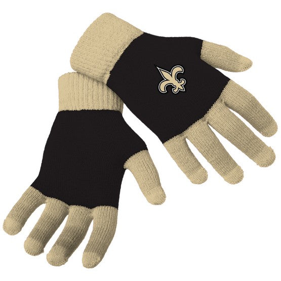 New Orleans Saints Knit Colorblock Gloves