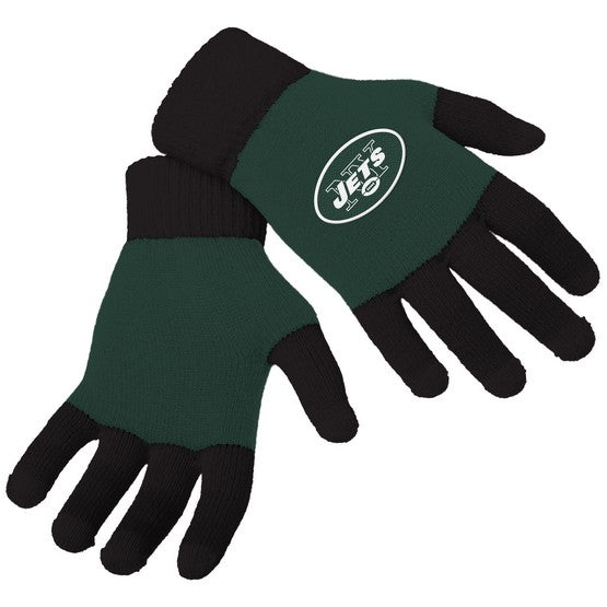 New York Jets Knit Colorblock Gloves