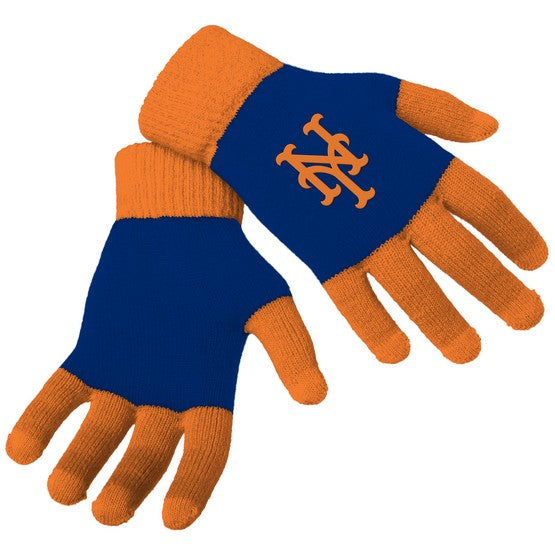 New York Mets Knit Colorblock Gloves