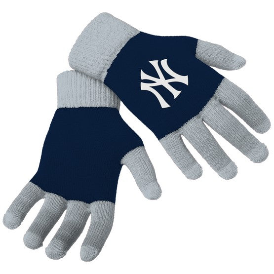 New York Yankees Knit Colorblock Gloves