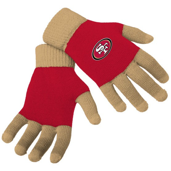 San Francisco 49ers Knit Colorblock Gloves