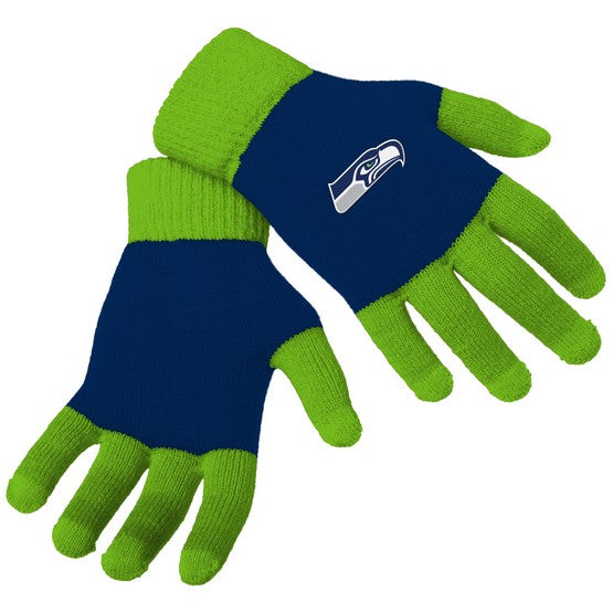 Seattle Seahawks Knit Colorblock Gloves