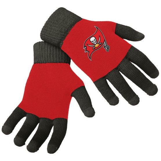 Tampa Bay Buccaneers Knit Colorblock Gloves