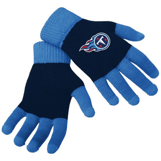Tennessee Titans Knit Colorblock Gloves