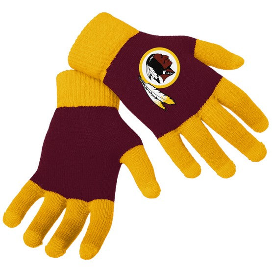 Washington Redskins Knit Colorblock Gloves