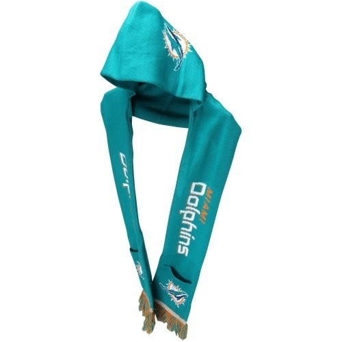 Miami Dolphins Knit Hooded Scarf