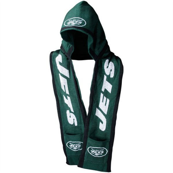 New York Jets Knit Team Hooded Scarf