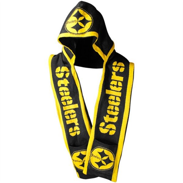 Pittsburgh Steelers Knit Team Hooded Scarf