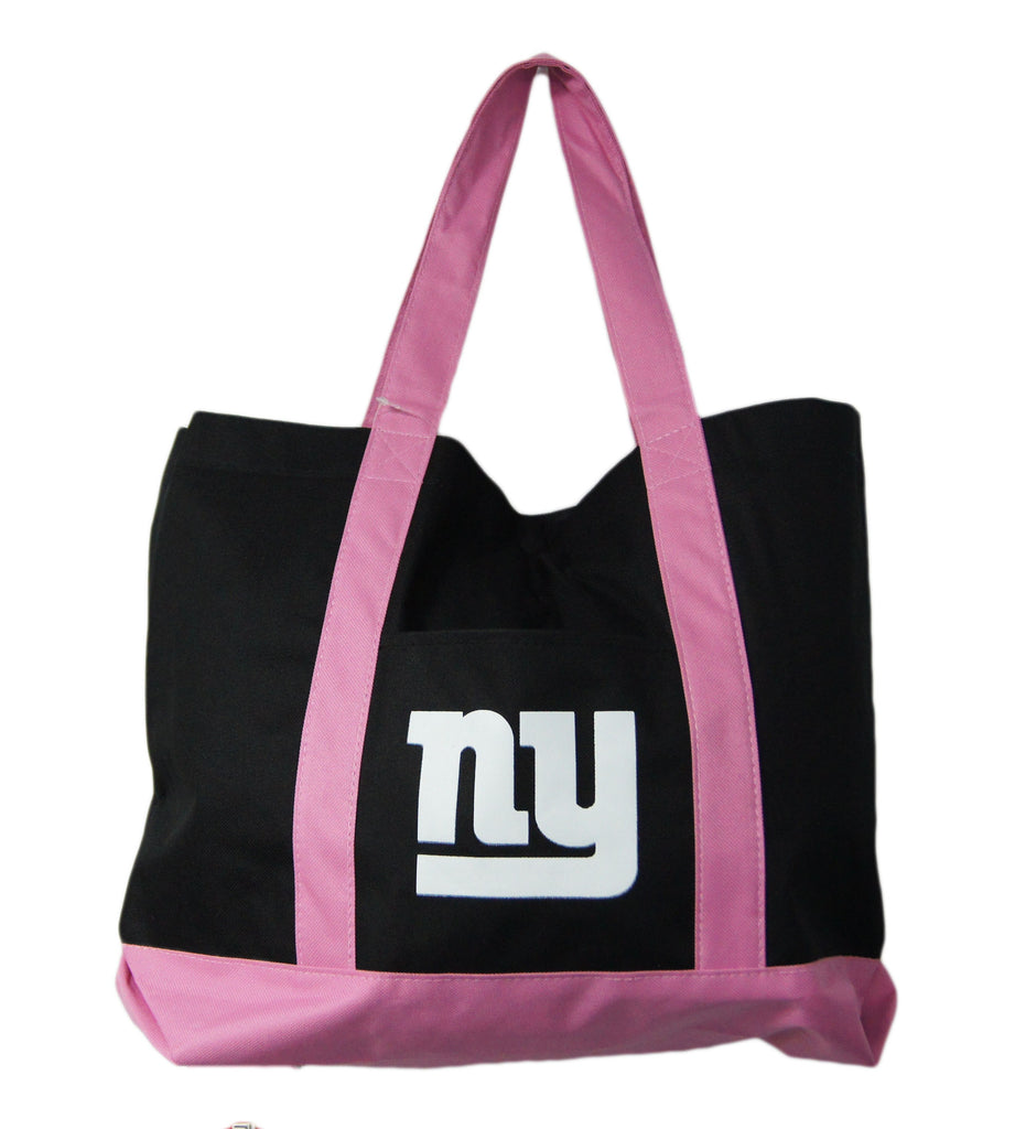 New York Giants Large Pink/ Black Tote