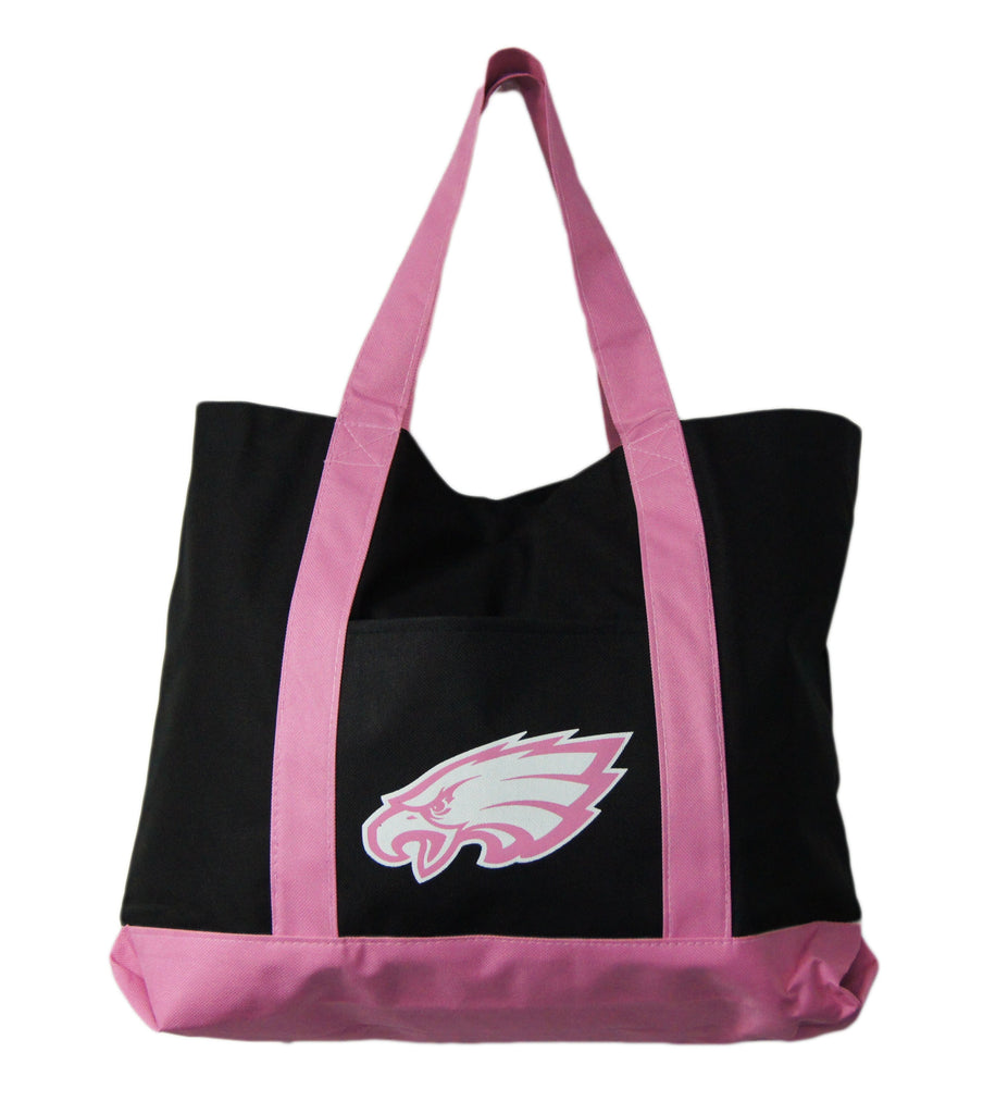 Philadelphia Eagles Large Pink/ Black Tote