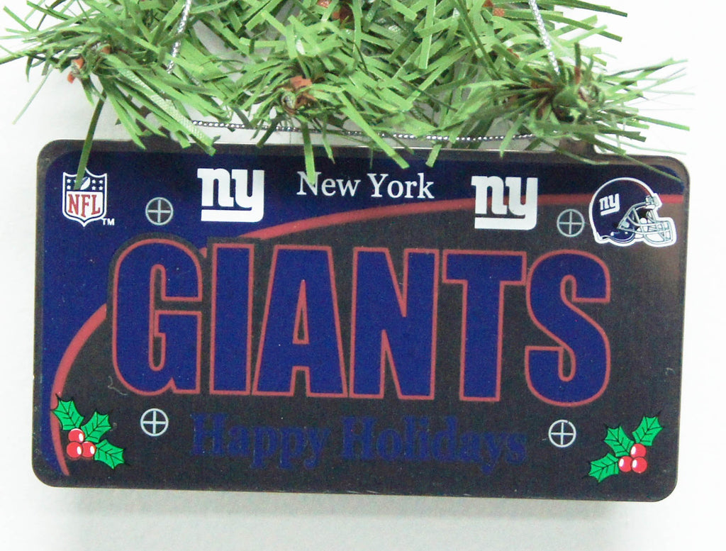 New York Giants License Plate Ornament
