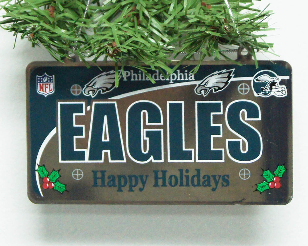 Philadelphia Eagles License Plate Ornament