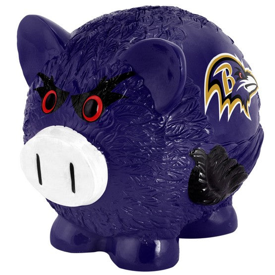 Baltimore Ravens Lg Thematic Piggy Bank