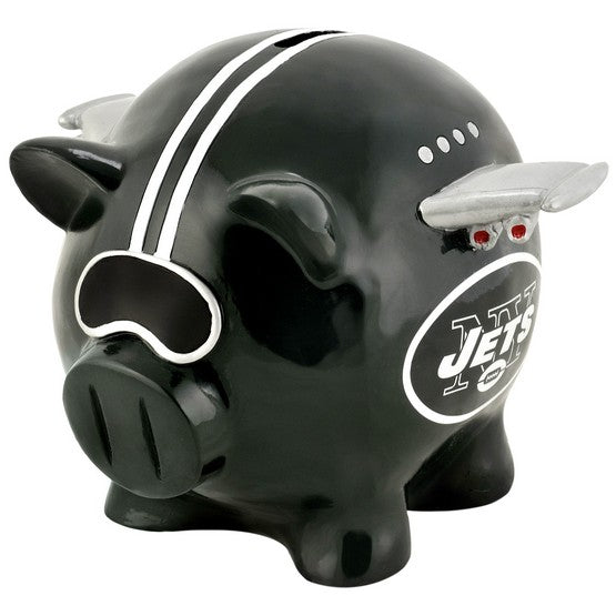 New York Jets Lg Thematic Piggy Bank