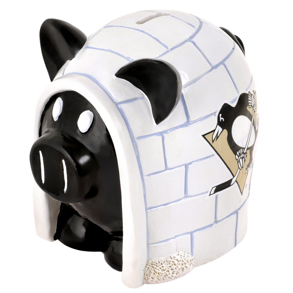 Pittsburgh Penguins Lg Thematic Piggy Bank