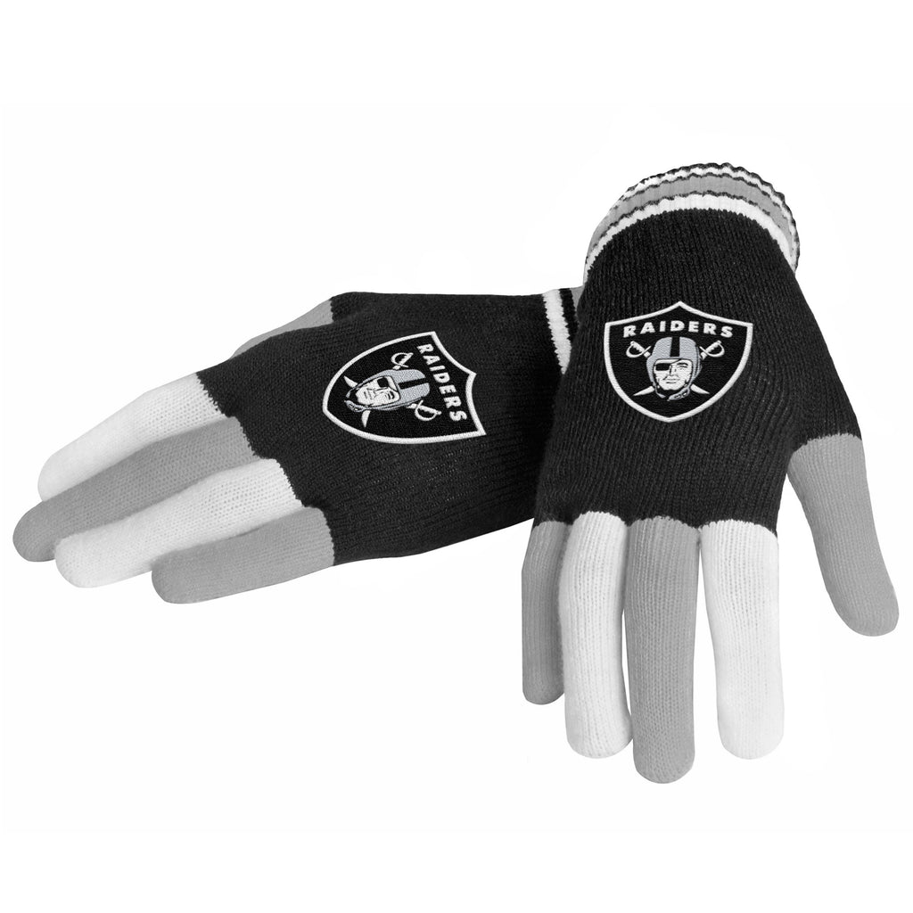 Oakland Raiders Multi Color Knit Gloves