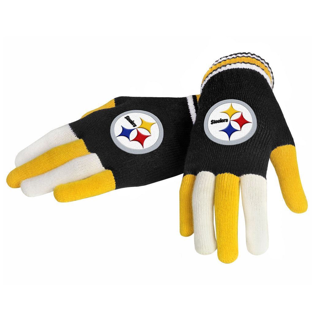 Pittsburgh Steelers Multi Color Knit Gloves