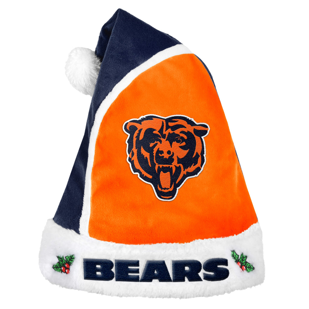 Chicago Bears Multi Color Santa Hat