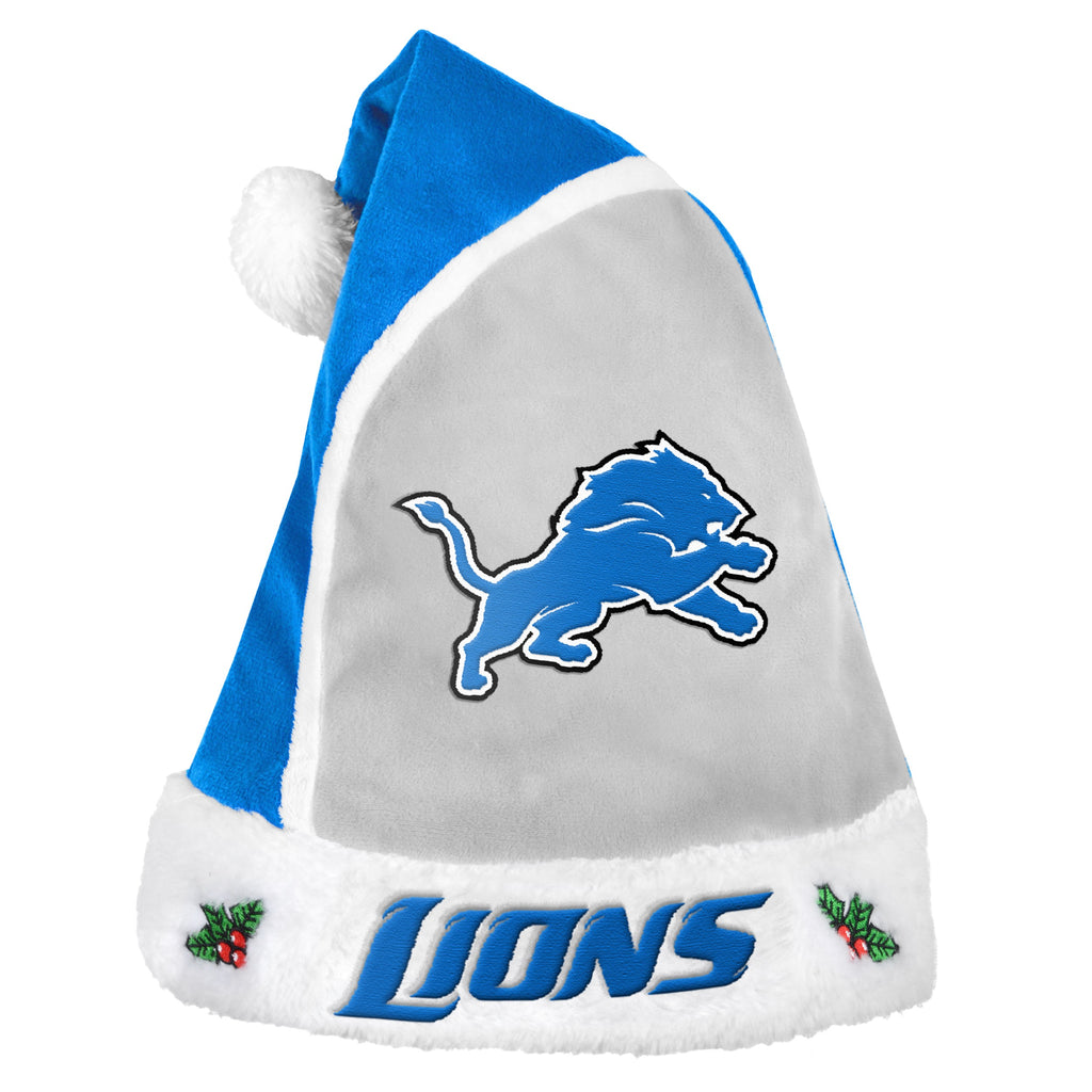 Detroit Lions Multi Color Santa Hat