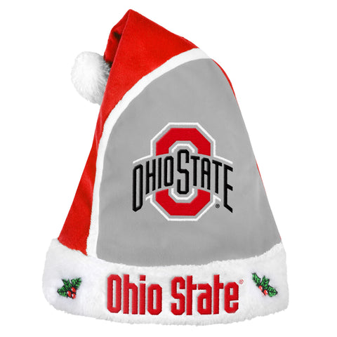 Ohio State Buckeyes Multi Color Santa Hat