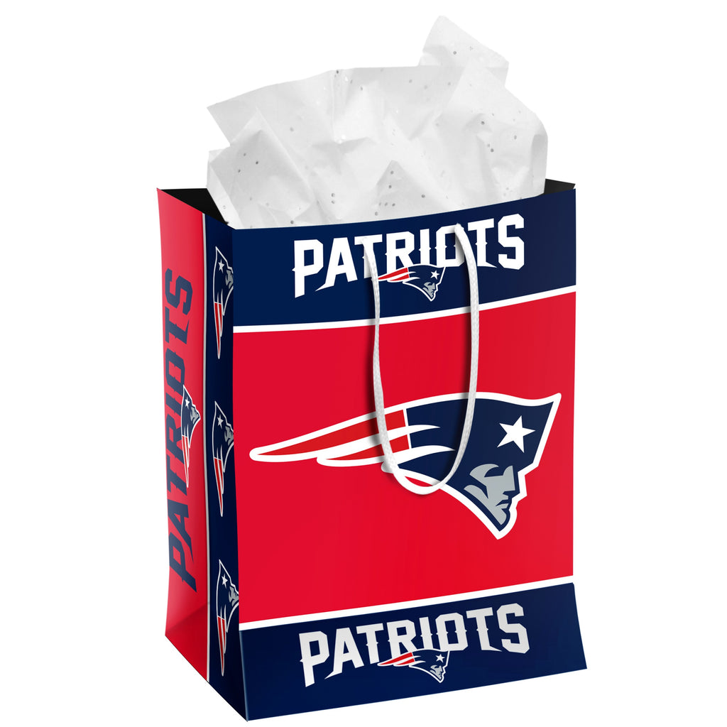 New England Patriots Medium Gift Bag