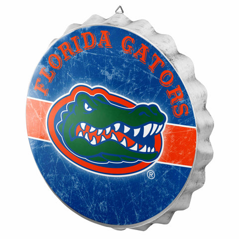 Florida Gators Metal Distressed Bottle Cap Sign