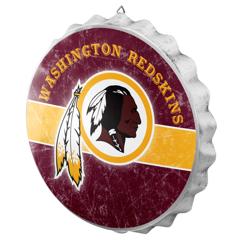 Washington Redskins Metal Distressed Bottle Cap Sign