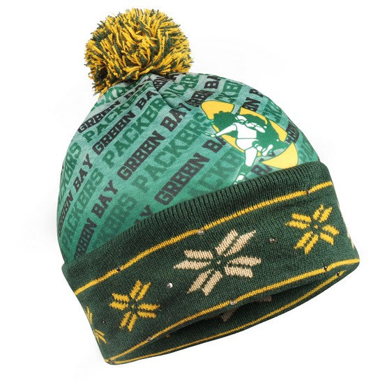 Green Bay Packers Retro Light Up Knit Beanie