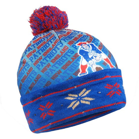 New England Patriots Retro Light Up Knit Beanie