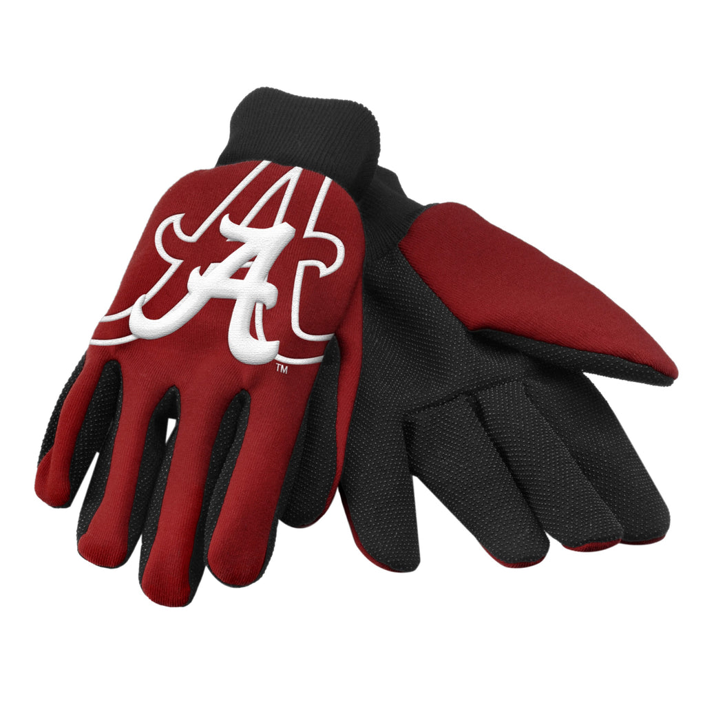 Alabama Crimson Tide Raised Logo Gloves