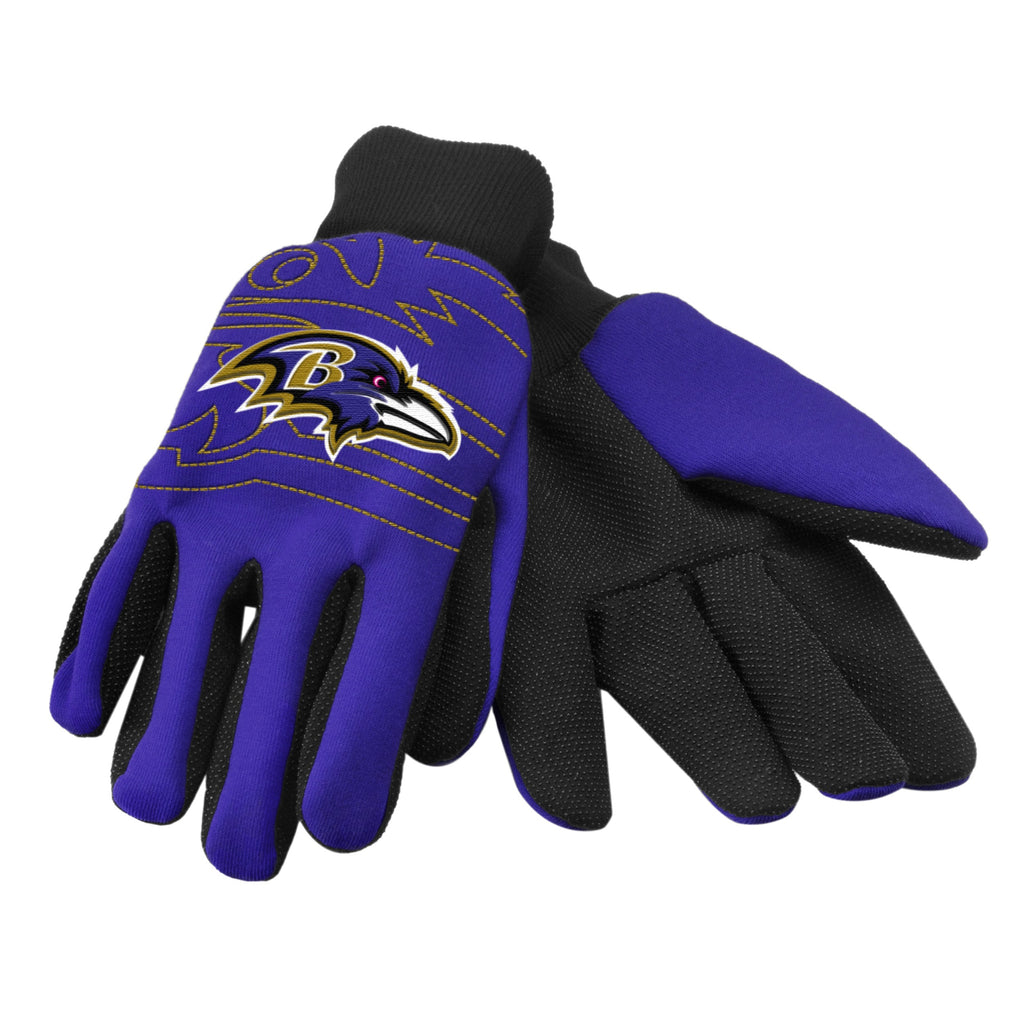 Baltimore Ravens Raised Logo Gloves