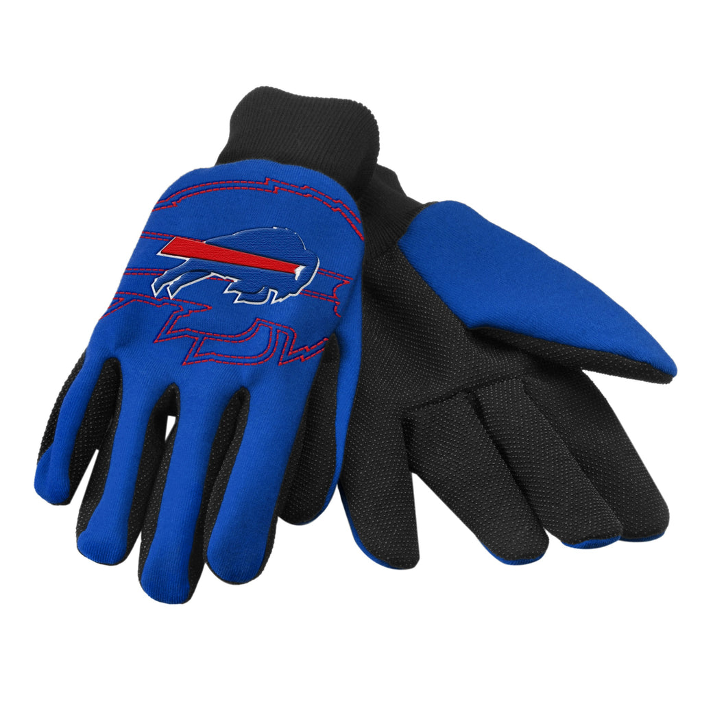 Buffalo Bills Raised Logo Gloves