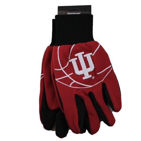 Indiana Hoosiers Raised Logo Gloves