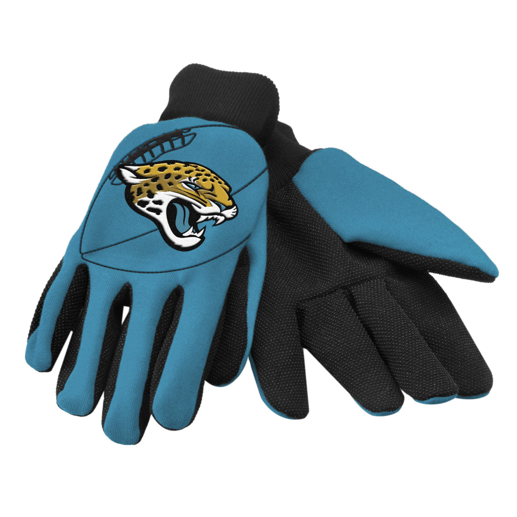 Jacksonville Jaguars Raised Logo Gloves