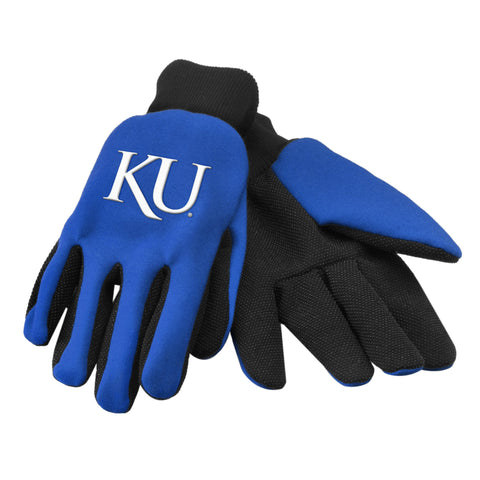 Kansas Jayhawks Raised Logo Gloves