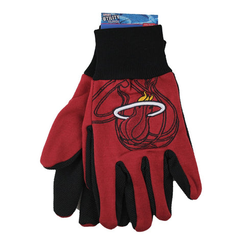 Miami Heat Raised Logo Gloves