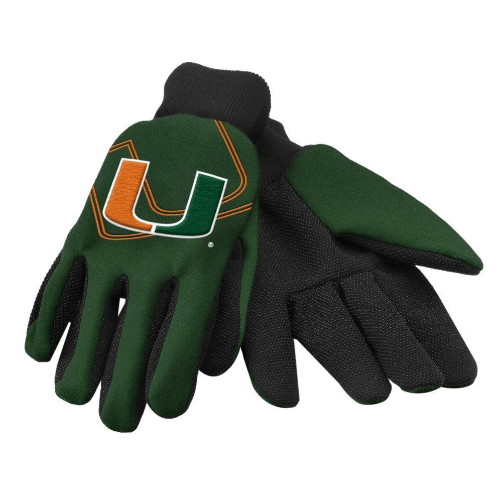 Miami Hurricanes Raised Logo Gloves