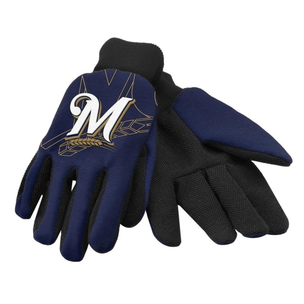 Milwaukee Brewers Raised Logo Gloves
