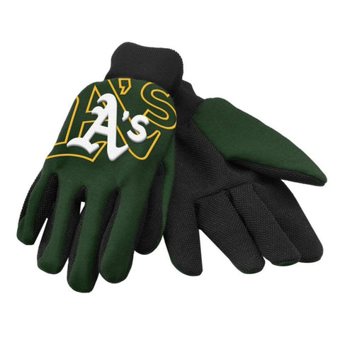 Oakland Athletics Raised Logo Gloves
