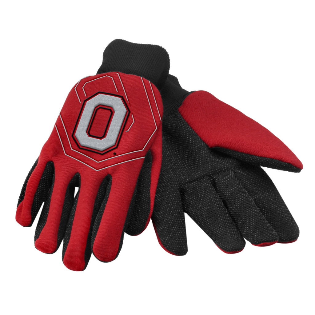 Ohio State Buckeyes Raised Logo Gloves
