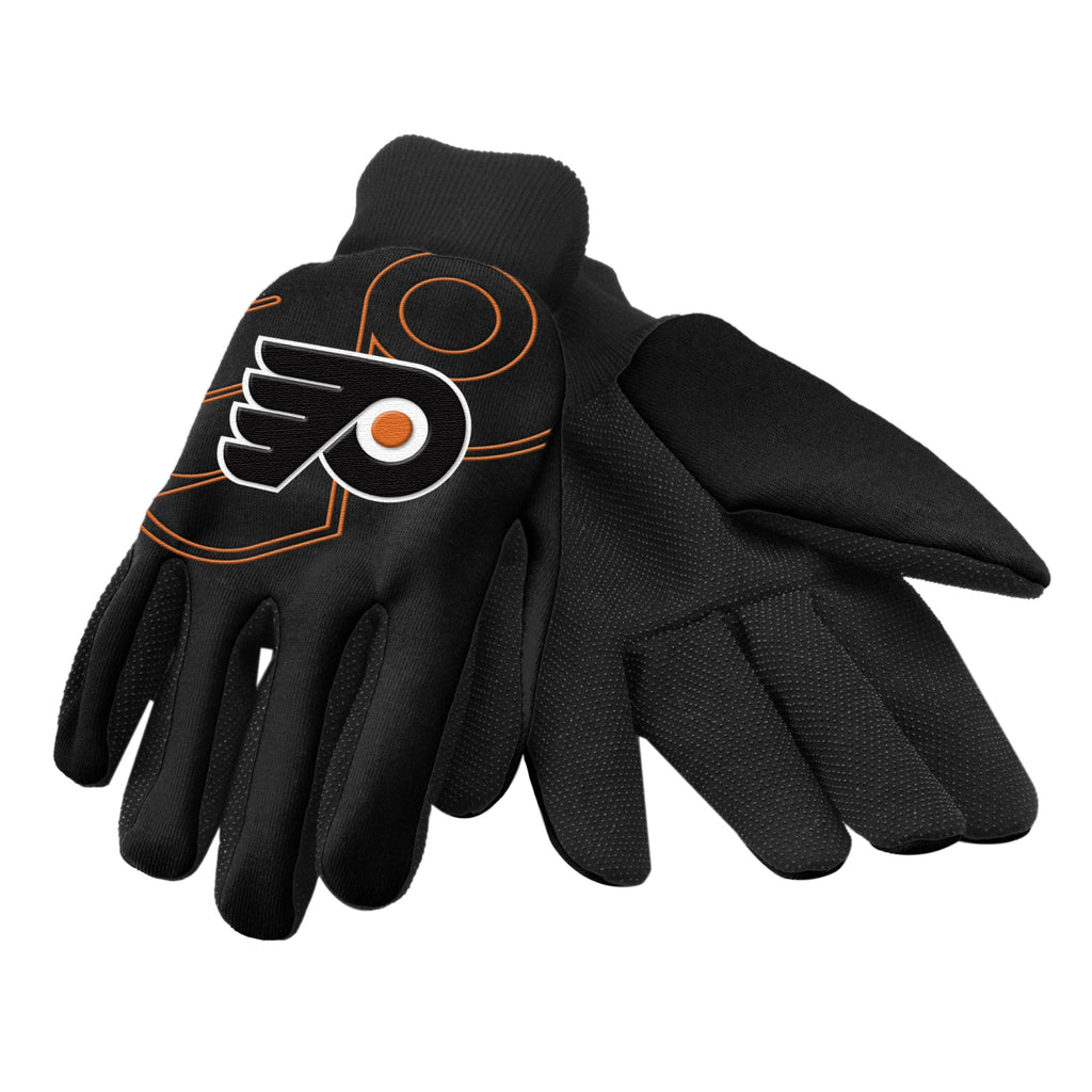 Philadelphia Flyers Raised Logo Gloves