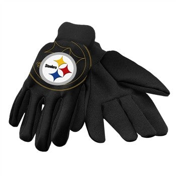 Pittsburgh Steelers Raised Logo Gloves