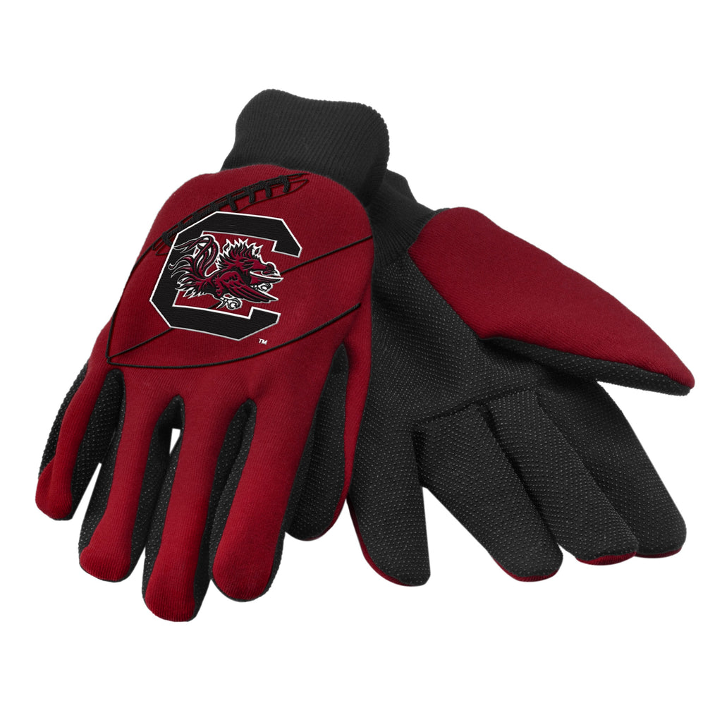 South Carolina Gamecocks Raised Logo Gloves